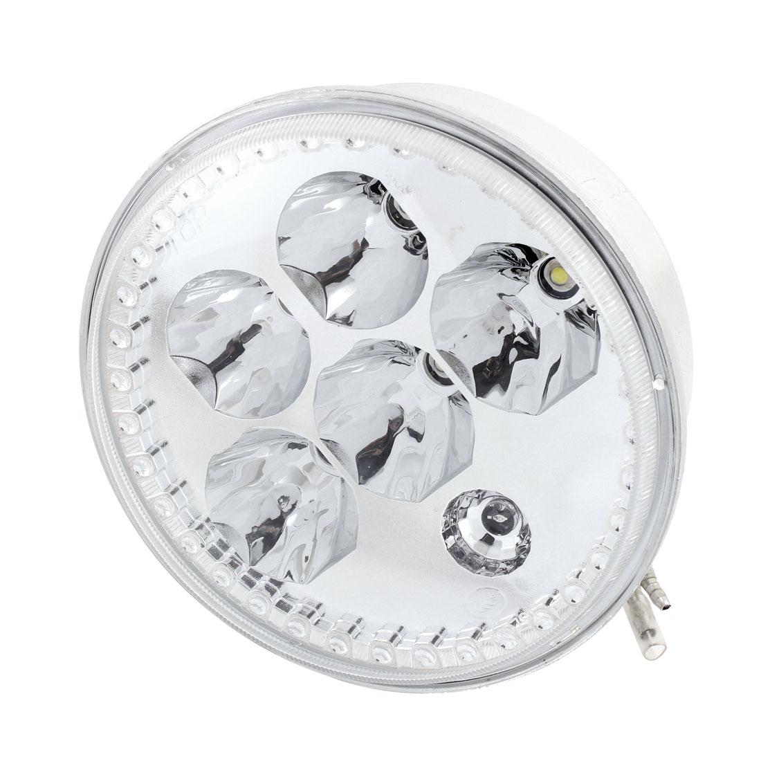 Motorcycle Front Indicator Round White 6 LED Head Light Fog Lamp