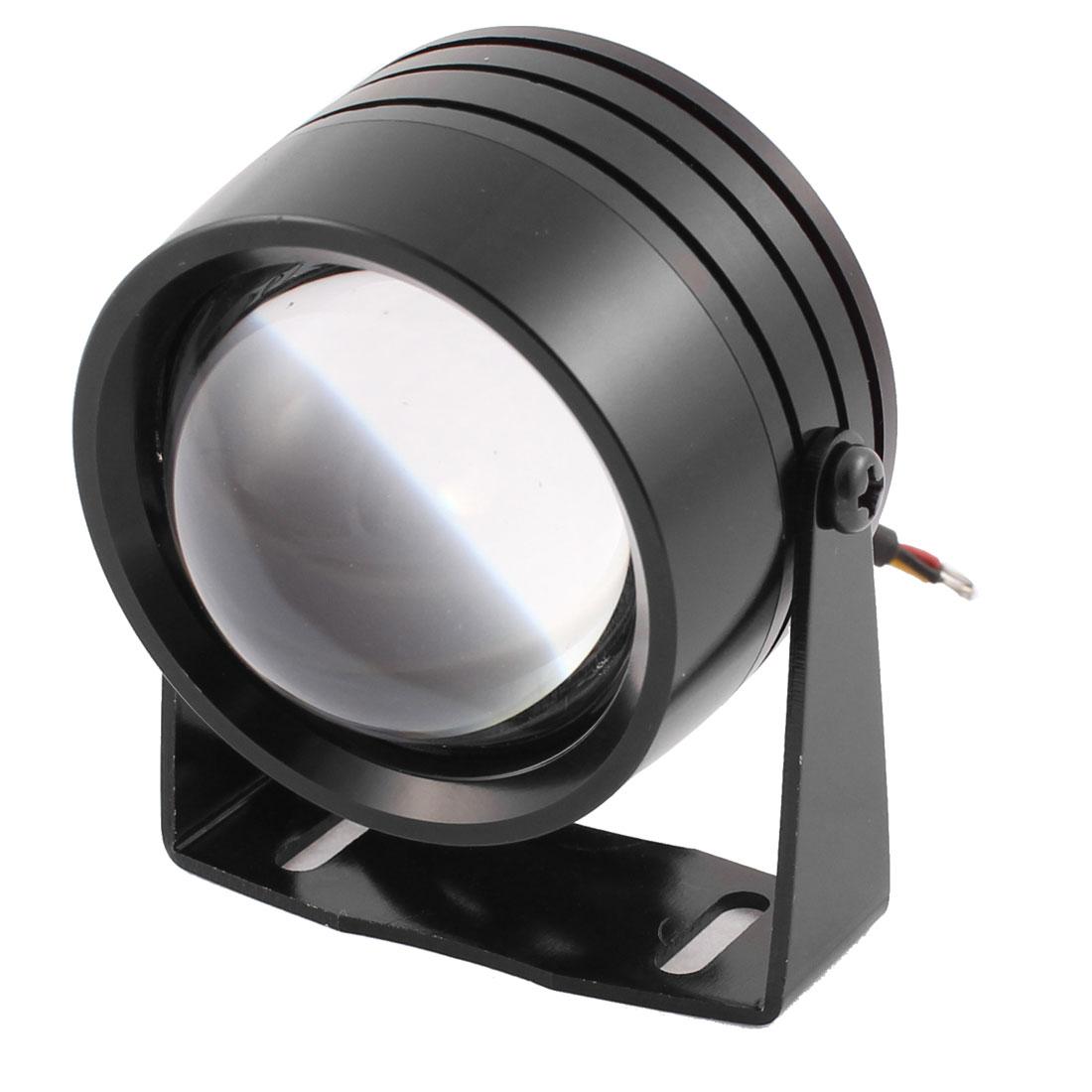 Motorcycle Black Metal Casing White LED Decoration Spot Light Lamp DC 12V