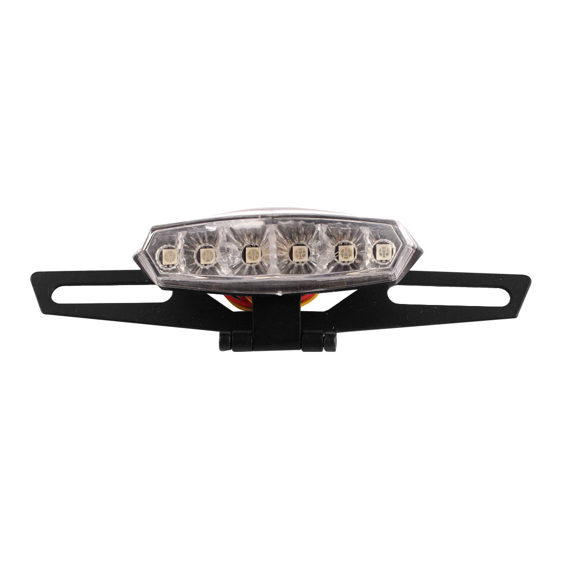 Motorcycle Red 6 LED Tail Light Custom License Plate Holder DC 12V