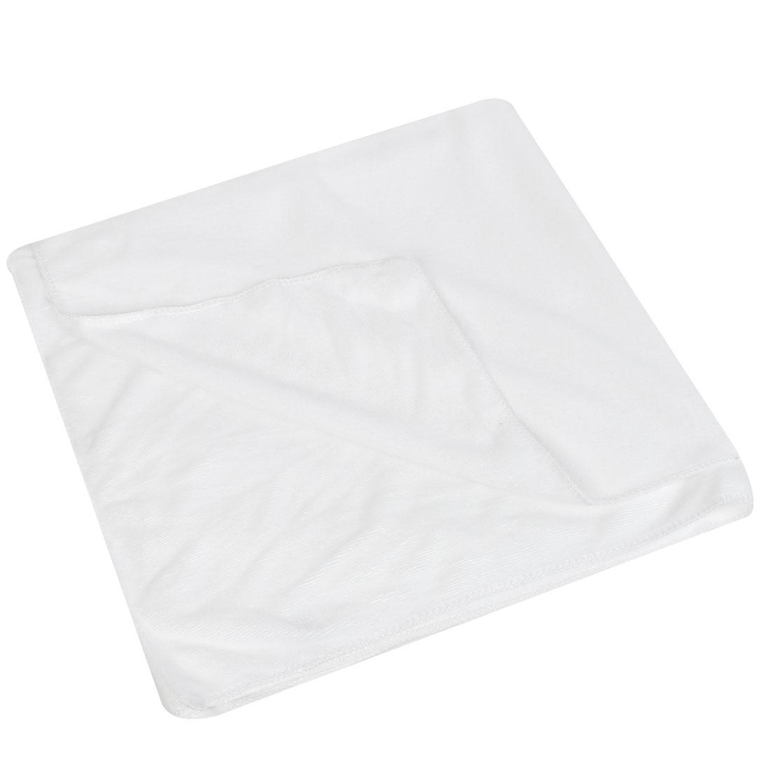White Soft Terry Rectangle Shower Bath Towel Sheet 140cm x 70cm for Home Hotel