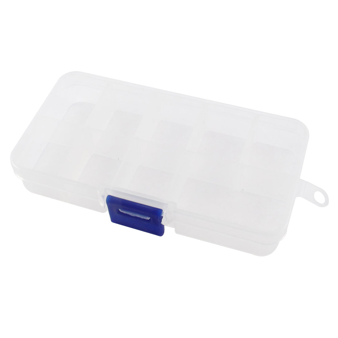Clear Plastic 9 Compartments Screws Electronic Parts Storage Box Case