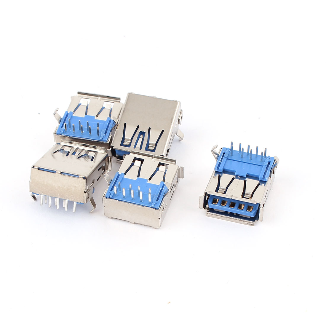 5Pcs 9 Pin 90 Degree Panel Mount USB3.0 Type A Female Port Jack Socket Connector