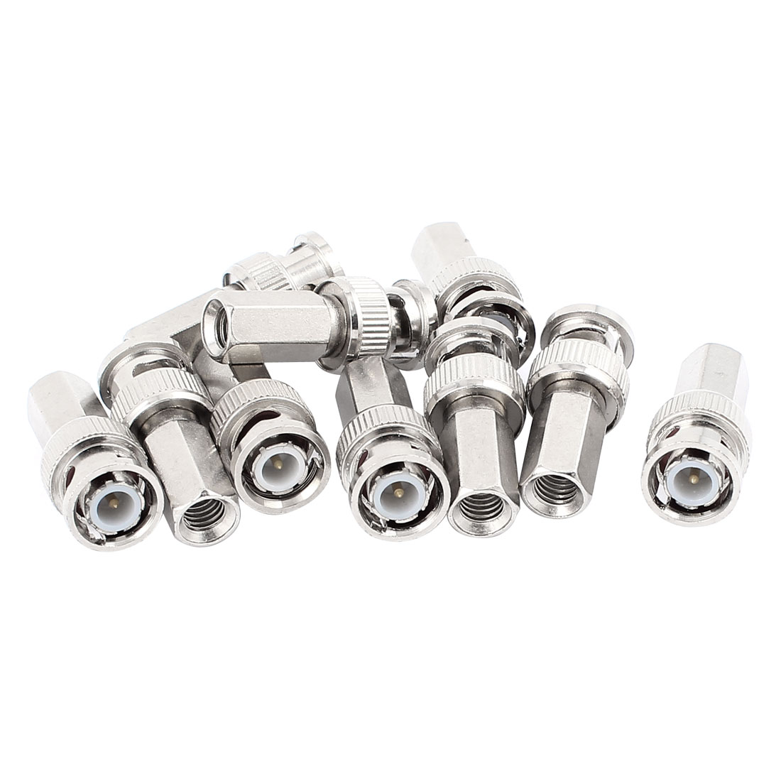 10pcs BNC Male Jack to Female Connector Adapter for CCTV Camera