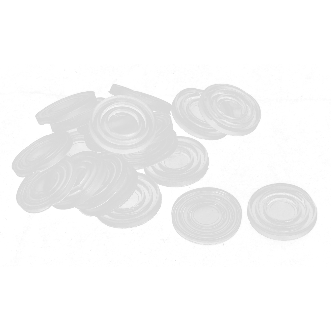 20pcs 24x3mm Round Soft Plastic Non-slip Glass Table Dash Mat Pad Cushion