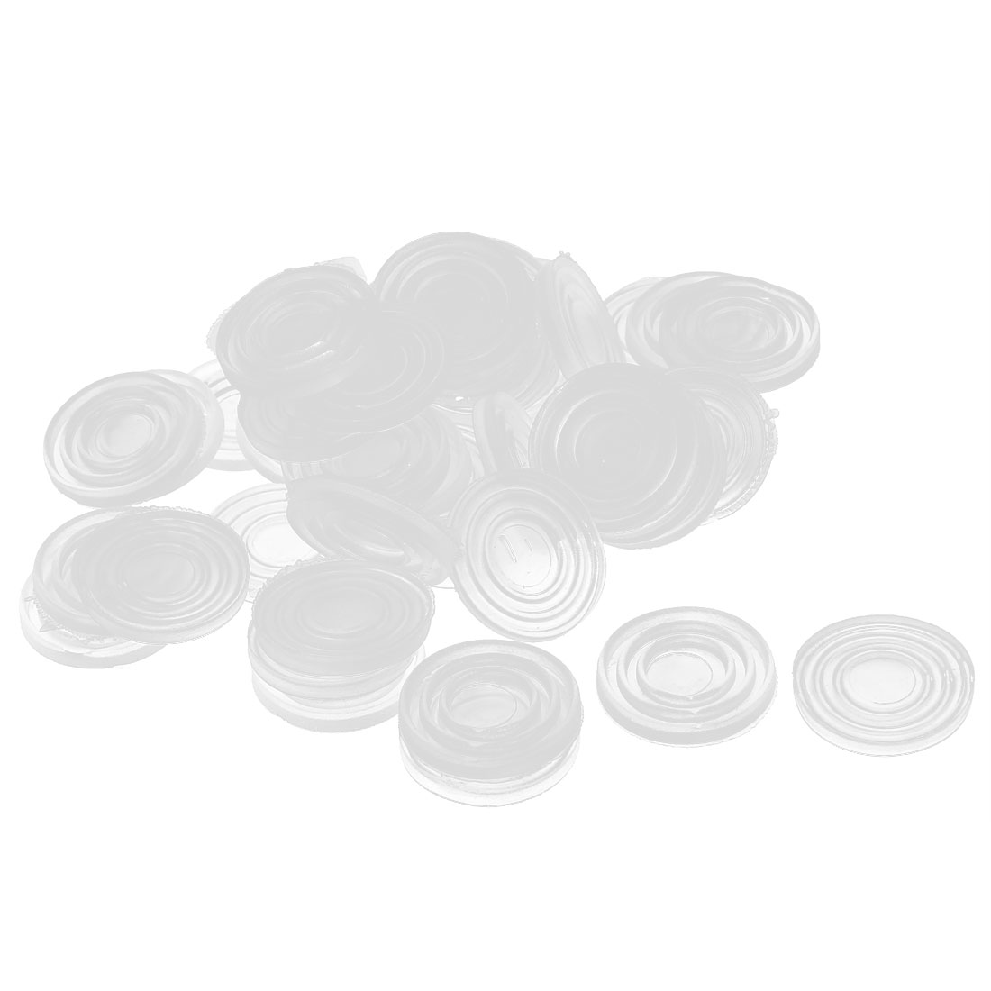 50pcs 24x3mm Round Clear Plastic Non-slip Glass Table Dash Mat Pad Cushion