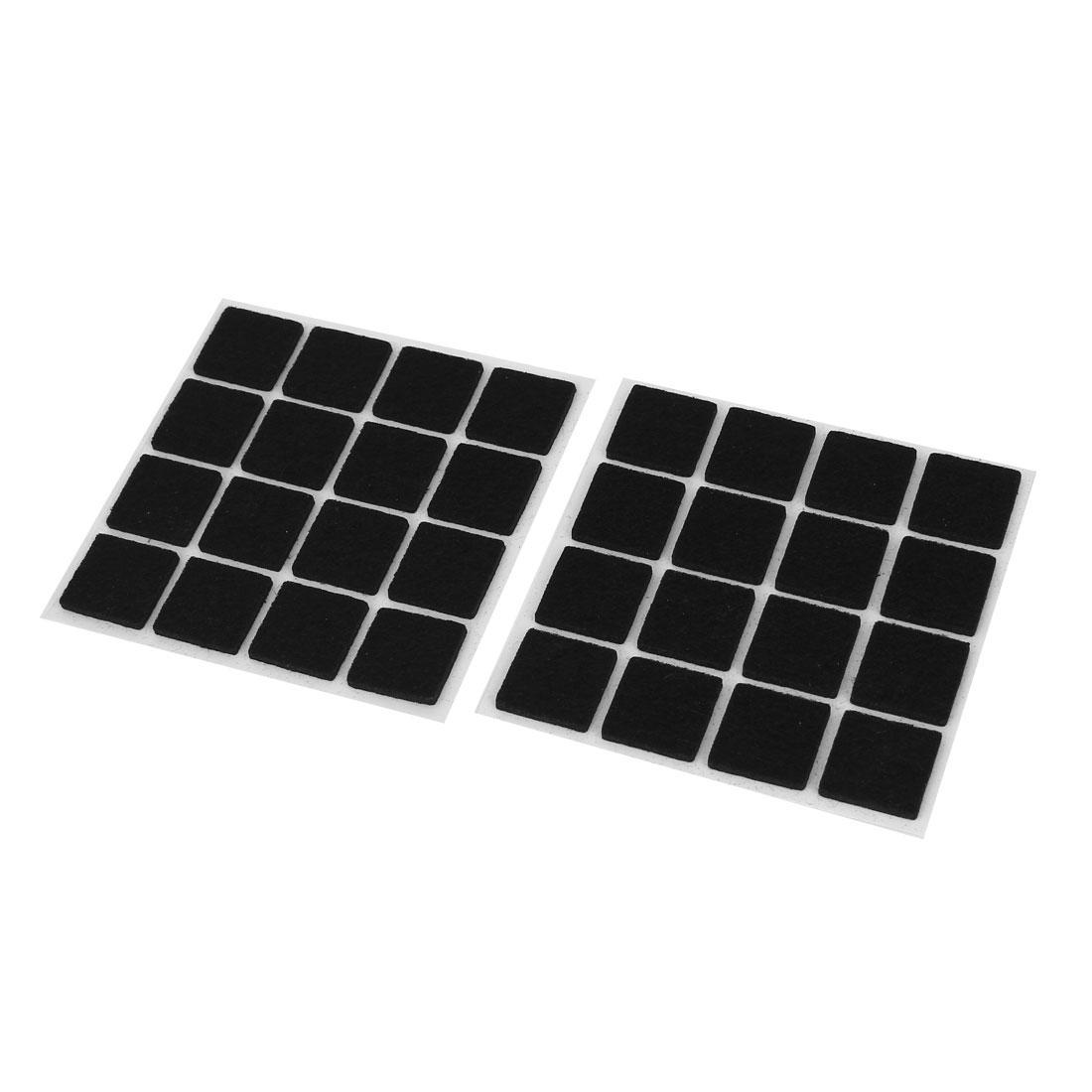 32pcs Self Adhesive Floor Protectors Furniture Felt Square Chair Sofa Table Pads