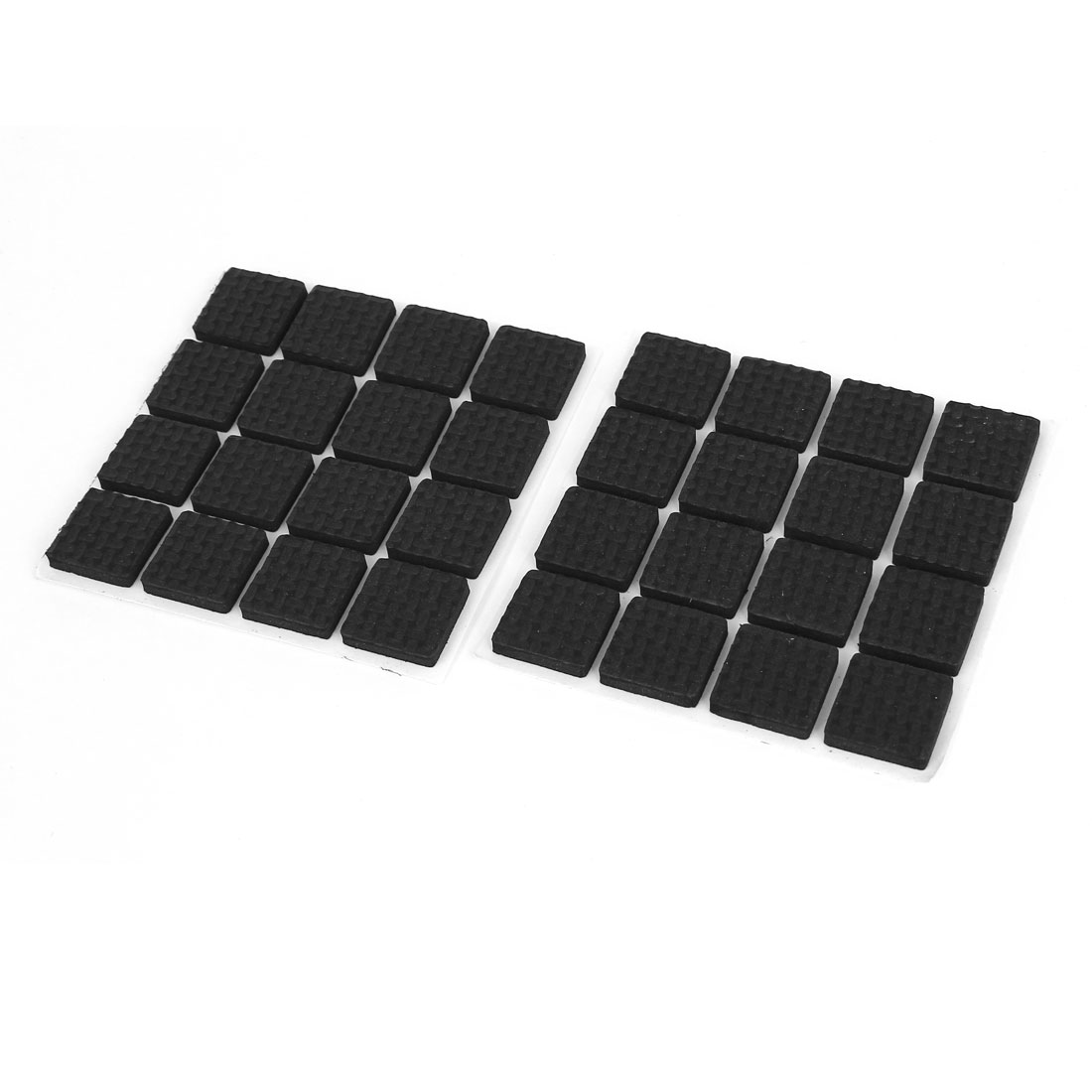 Furniture Table Feet Floor Protection Pads Adhesive Protectors Black 18mm 32pcs
