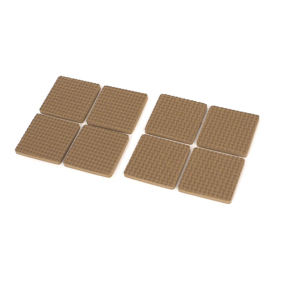 8pcs Self Adhesive Square EVA Pad Furniture Anti Skid Floor Protector Brown 38mm