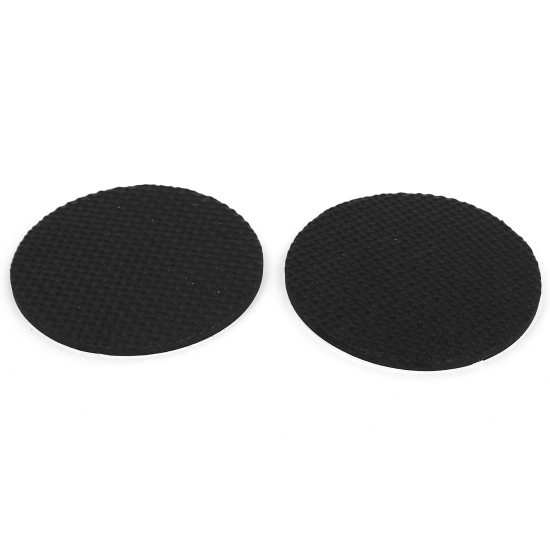 2pcs 85mm Black Self Adhesive Round Furniture Floor Scratch Protector EVA Pads