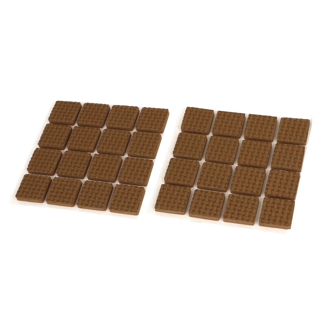 32pcs 18x18mm Brown Self Adhesive Legs Floor Protector Furniture Protection Pads