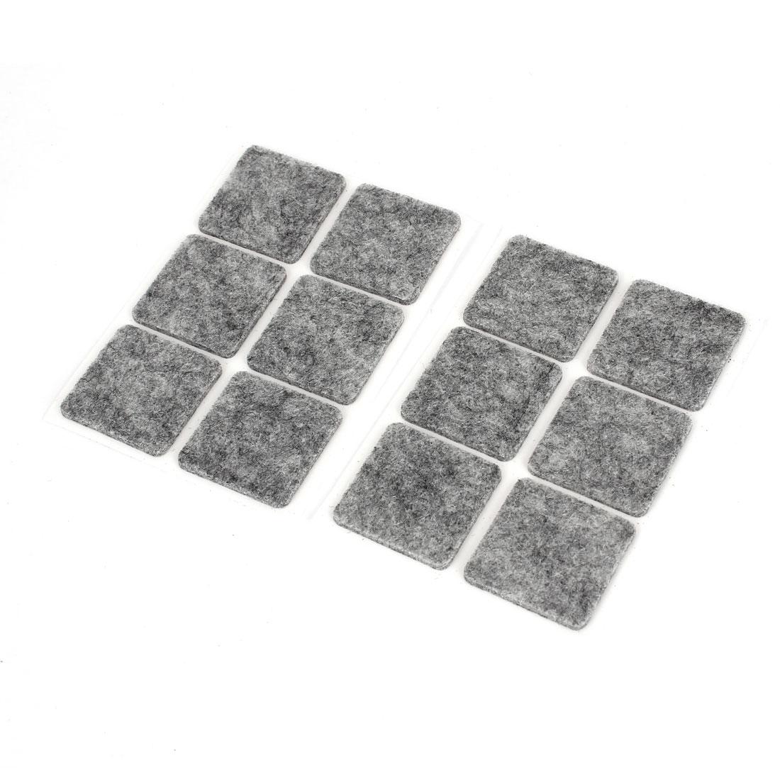 Gray Self Adhesive Felt Pad Furniture Table Chair Legs Floor Protectors 12pcs