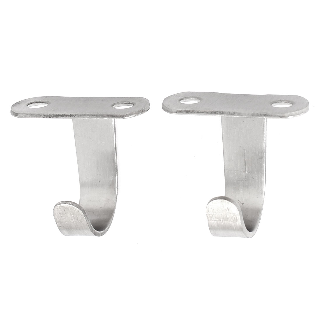 Clothes Bag Coat Cabinet Top Mount Stainless Steel Wall Hooks Hangers 2pcs