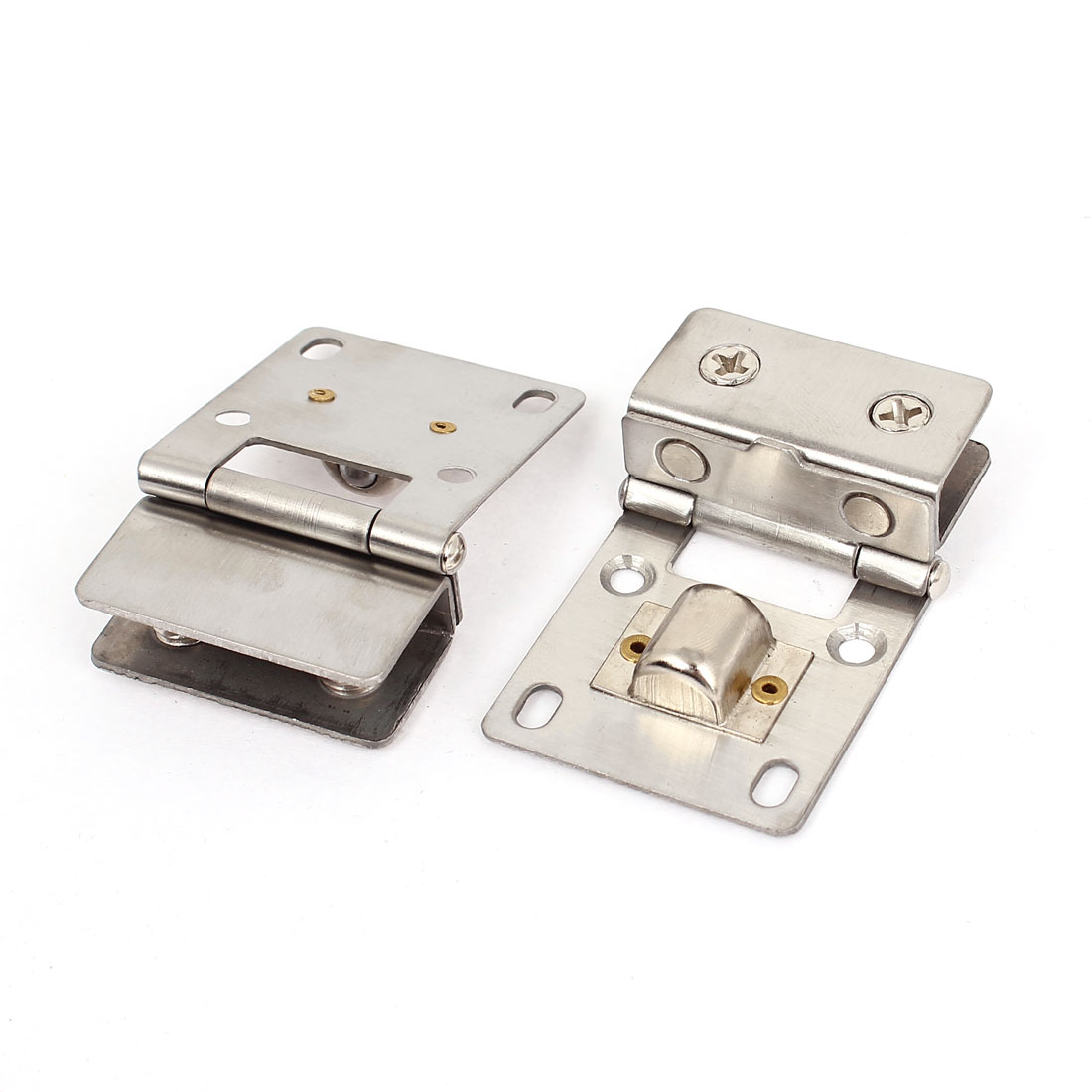 5mm-9mm Thickness Cupboard Cabinet Glass Pivot Door Hinge Clamps 2 Pcs