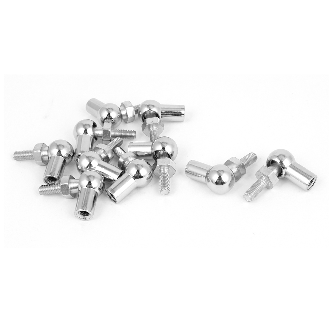 6mm x 6mm Male Female Thread L Shaped Ball Joint Rod End Bearing 10 Pcs