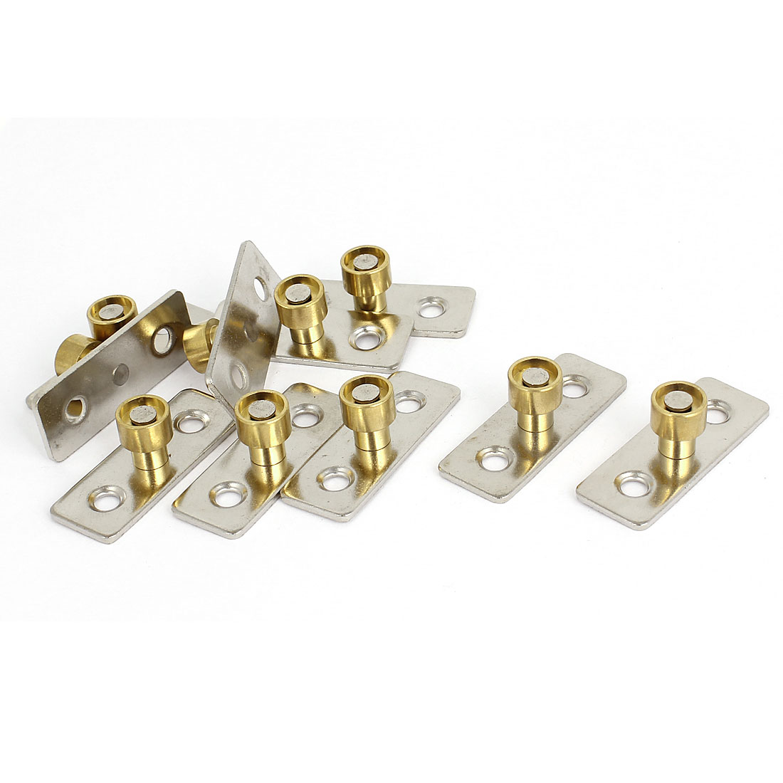 10pcs Metal 12mm Diameter Wooden Sliding Door Guide Locator Stopper
