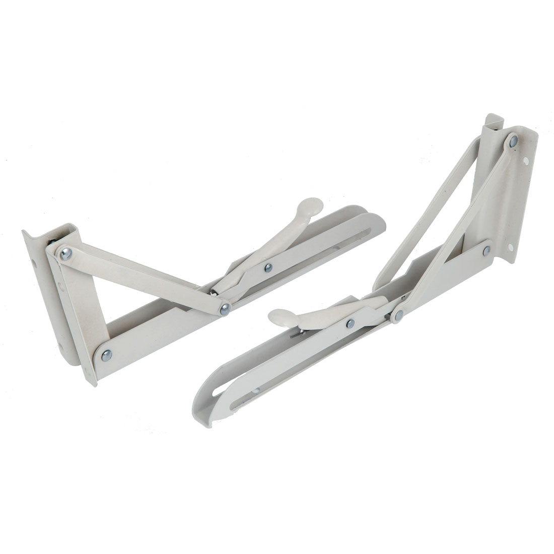 2 Pcs 25cmx9.5cm L Shaped 90 Degree Angle Folding Bench Shelf Table Bracket