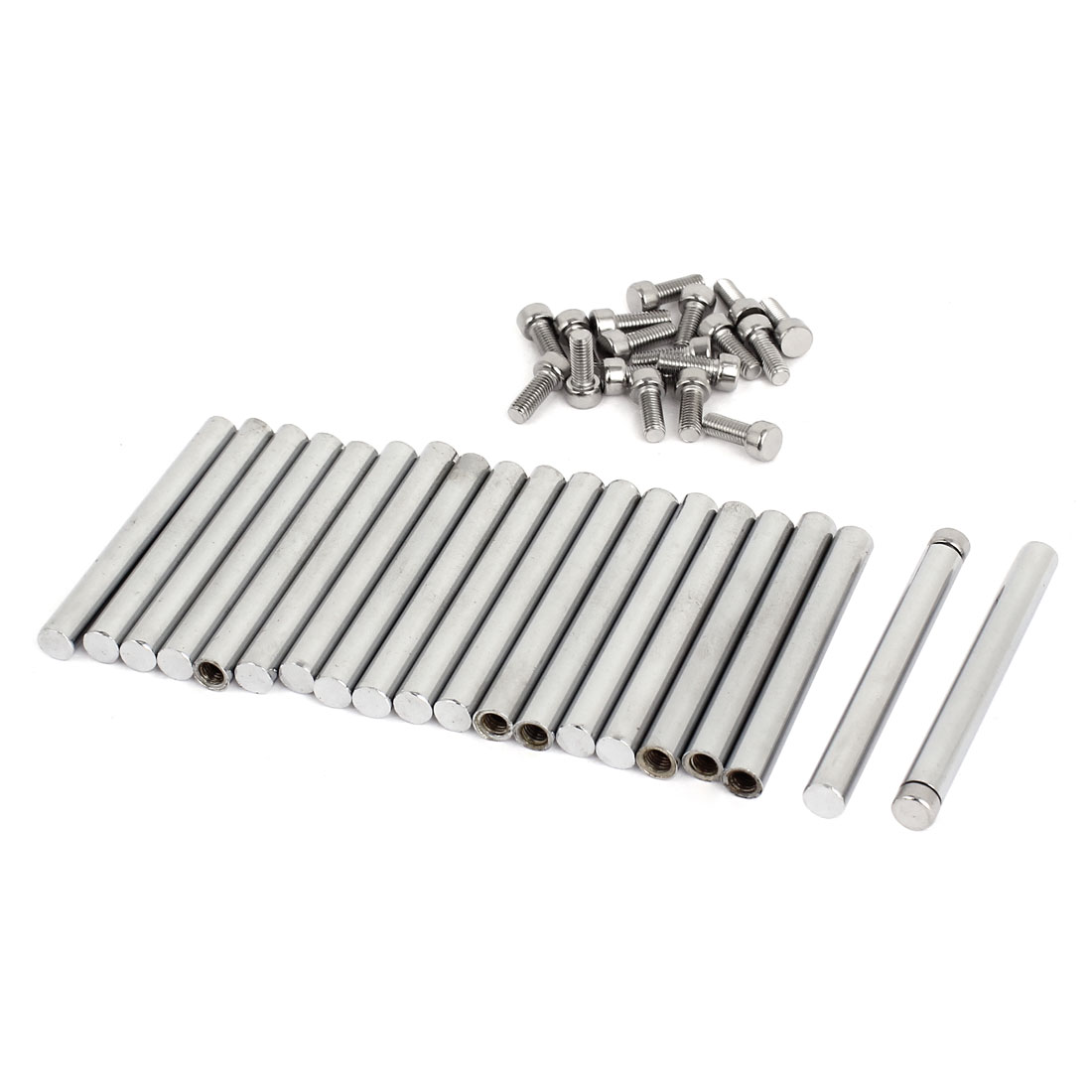 8mm x 75mm Stainless Steel Standoff Pins Screw Glass Picture Poster Frame Hanger 20 Pcs