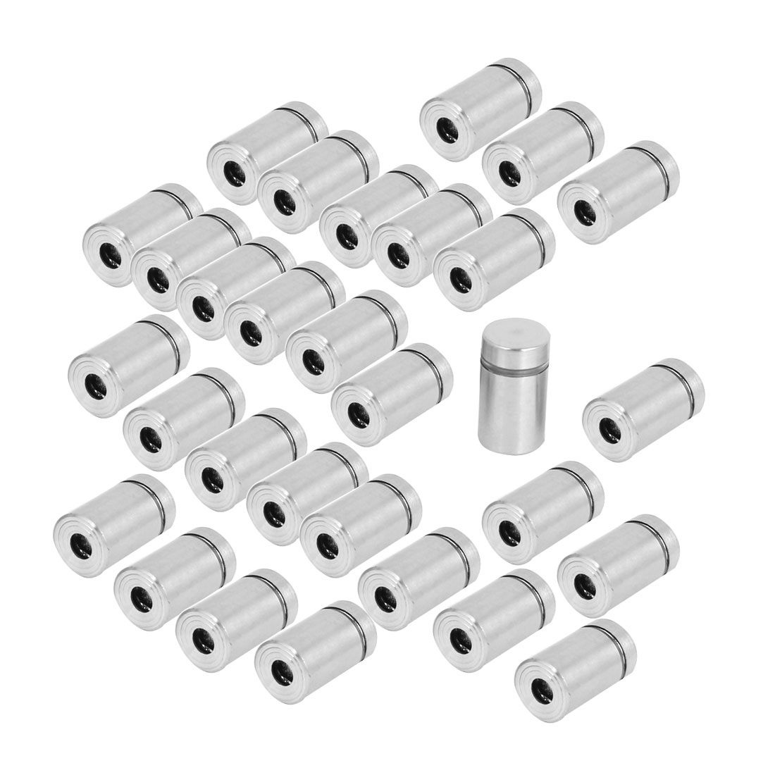 Stainless Steel Advertising Nail Wall Support Glass Standoff Fixing Screw 30pcs