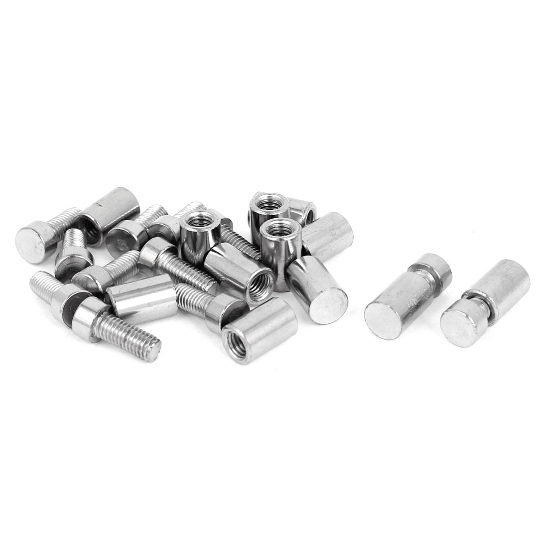 Picture Poster Stainless Steel Standoff Pins Screw Glass Frame Hanger 12 Pcs