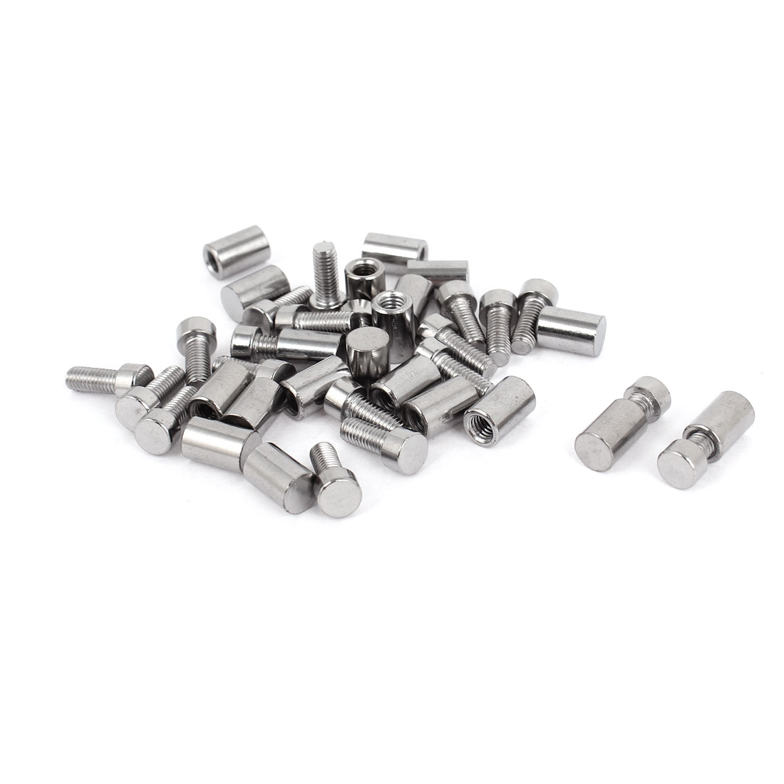 8mm x 20mm Stainless Steel Standoff Pins Screw Glass Picture Poster Frame Hanger 20 Pcs