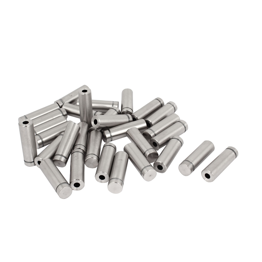 30 Pcs 12mm x 40mm Advertisement Barrel Nails Screws Glass Standoff Pins Holder