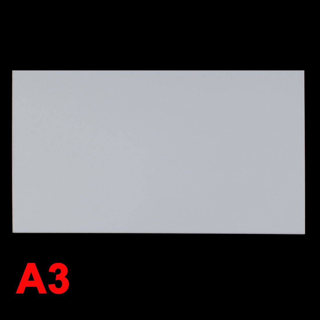 White Plastic Acrylic Plexiglass Sheet A3 Size 297mm x 420mm x 5mm