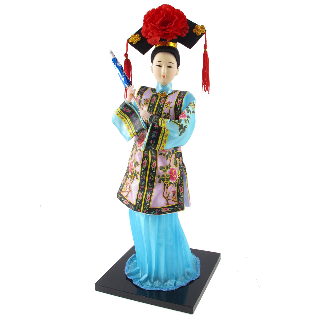 Chinese Style Beauty Statue Holding Umbrella Crafts Doll Festival Gift
