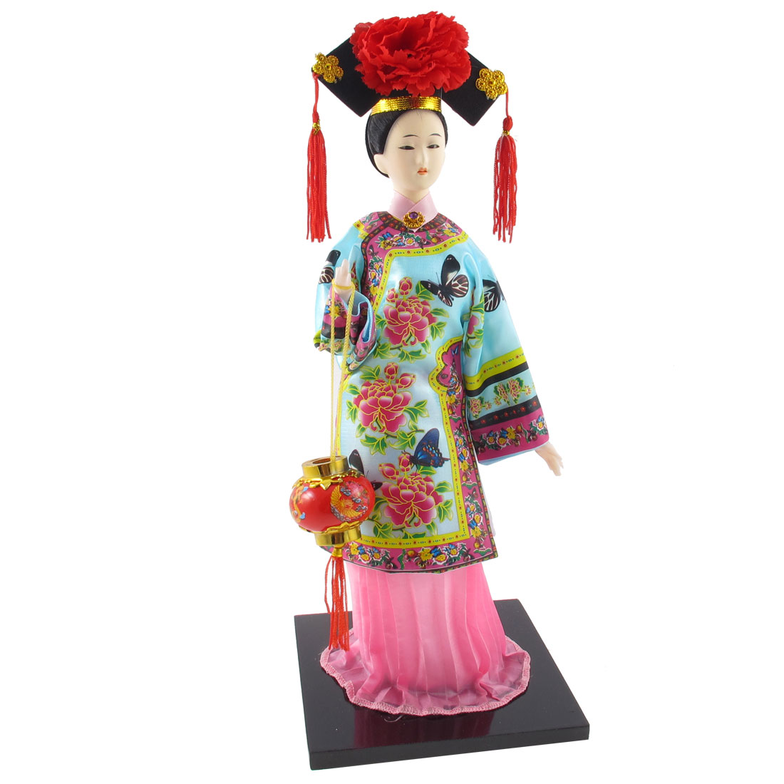Chinese Style Princess Statue Holding Lantern Crafts Doll Festival Gift