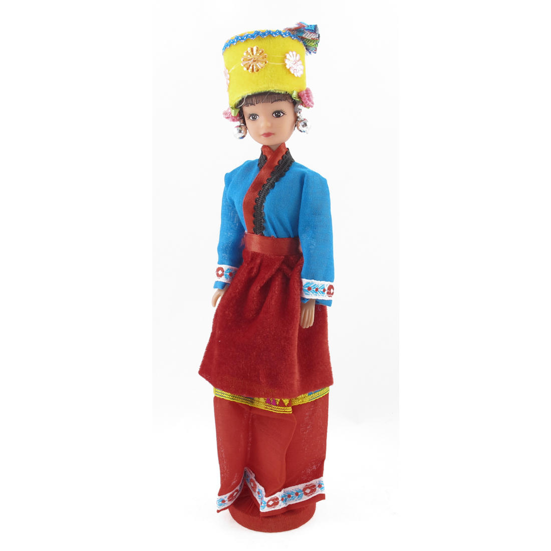 Chinese Characteristic Tu Nationality Ethnic Minority Girl Doll Souvenir Gift