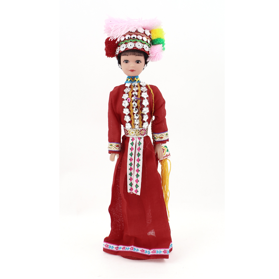 Chinese Characteristic Hani Nationality Ethnic Minority Girl Doll Souvenir Gift