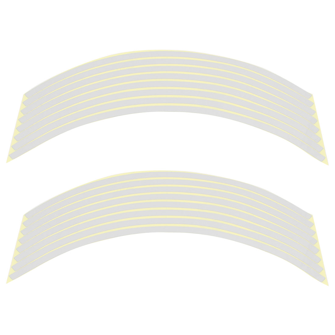Adhesive Reflective Rim Stripes Wheel Decals Sticker Decor Silver Tone