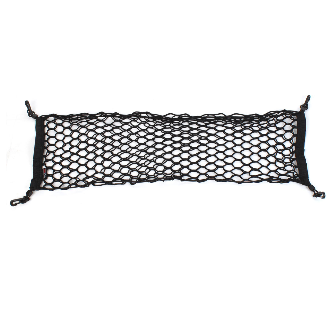 Luggage Storage Double Layer Mesh Elasticated Car Cargo Net w Lobster Clasp