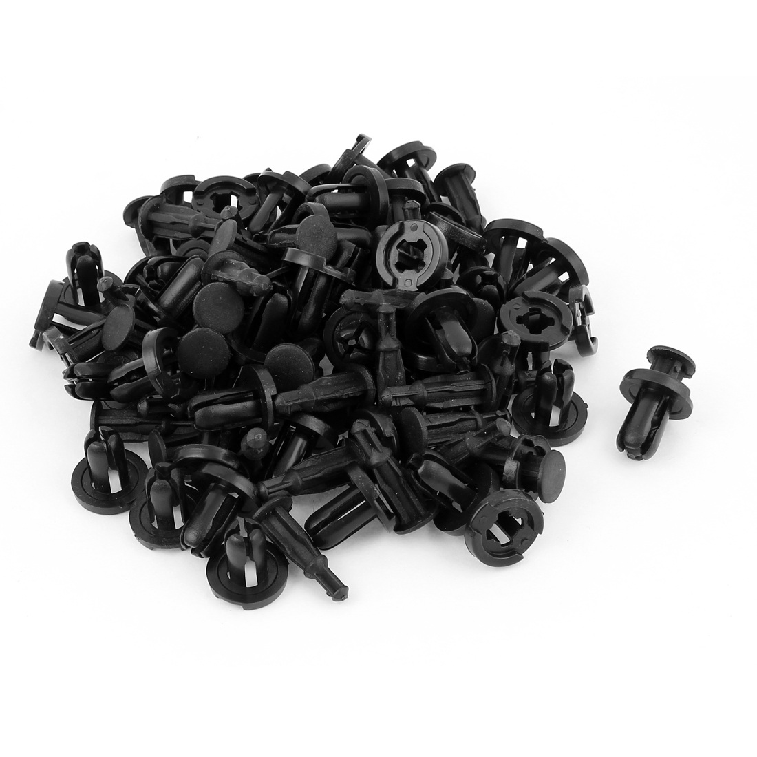 50pcs 20 x 9.5mm Car Auto Fairing Trim Plastic Push Fit Rivet Clips
