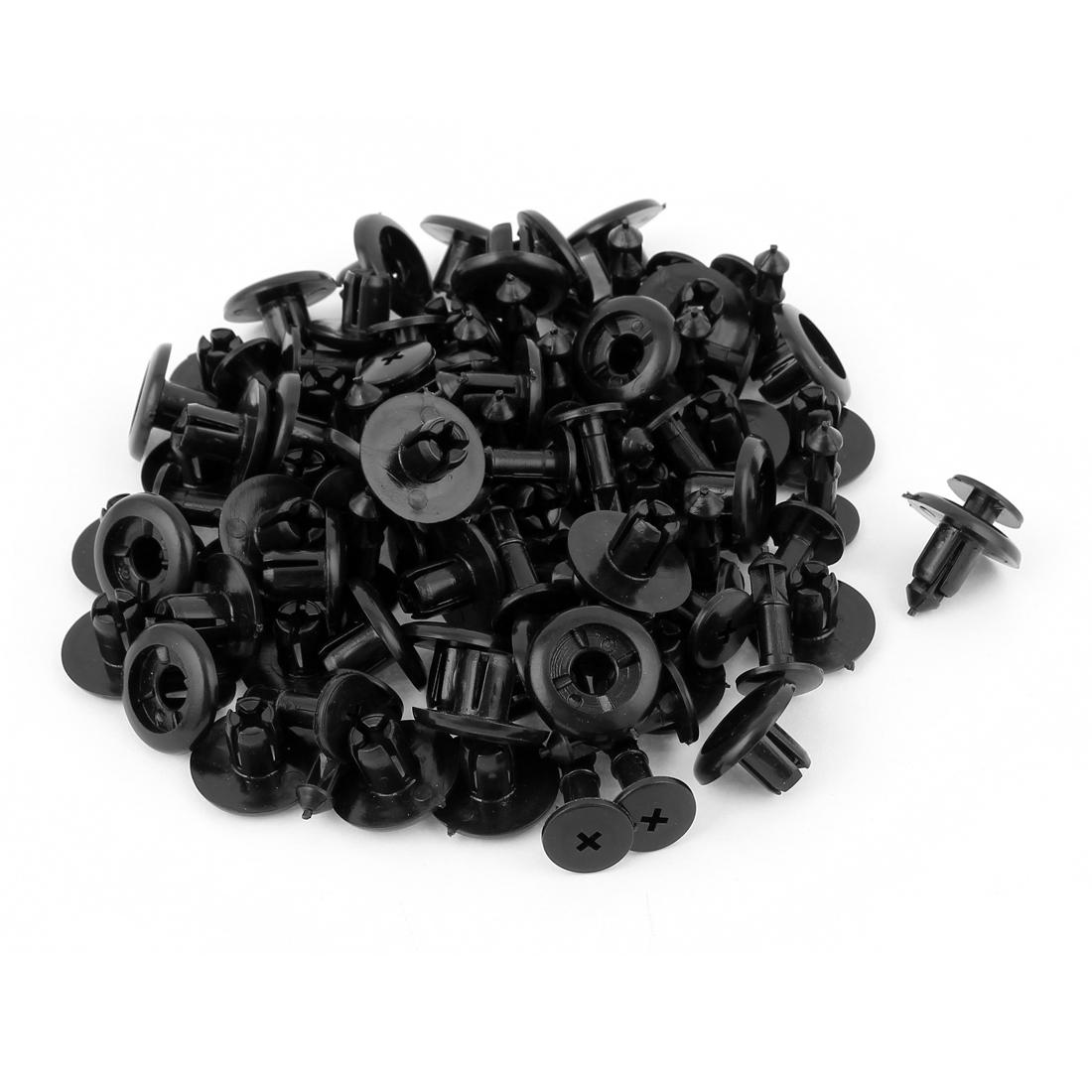 50 Pcs 7.8mm Hole Plastic Push Type Rivet Retainer Fastener Bumper Pin Clips