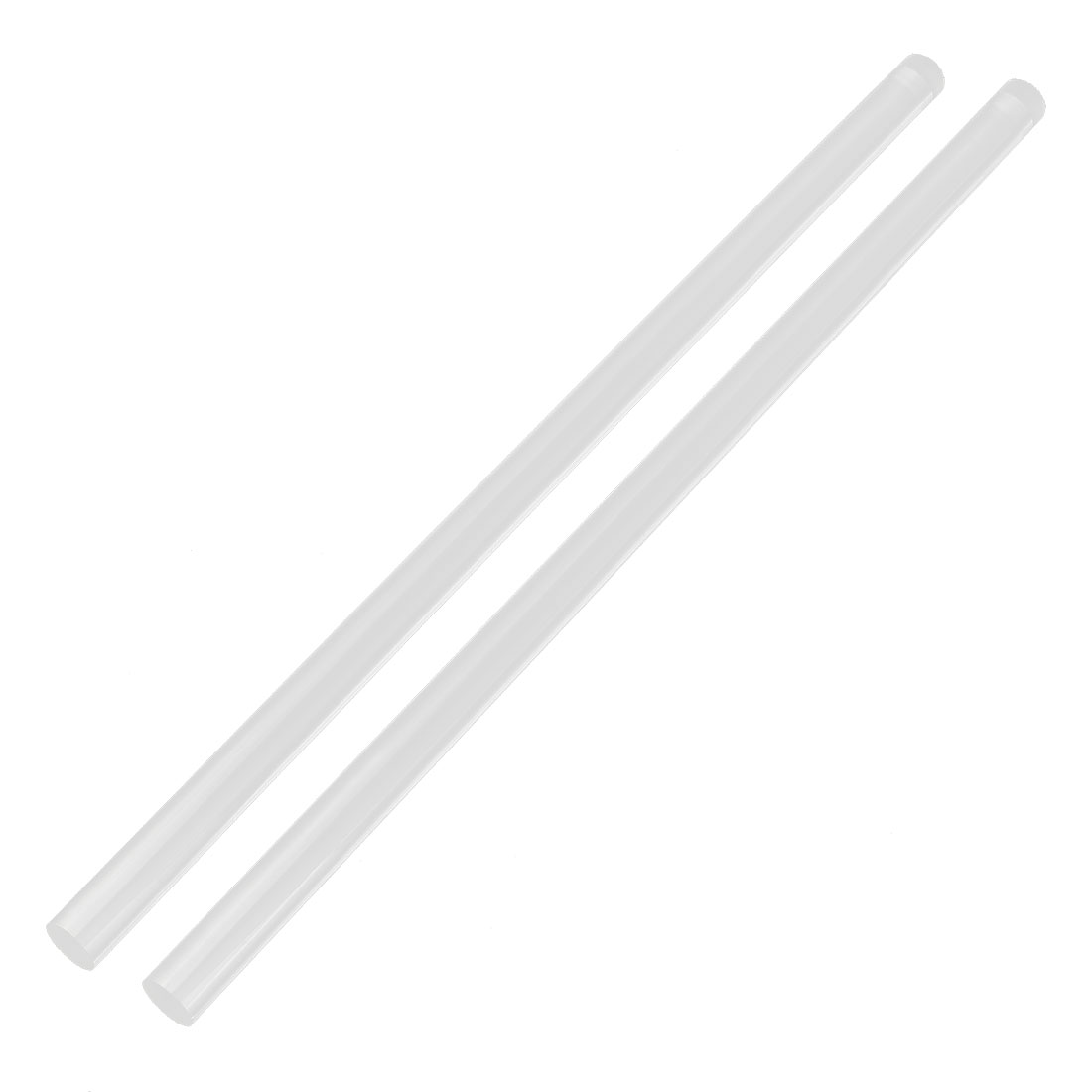 "2Pcs 12mm Dia Clear Round Acrylic Rod PMMA Extruded Bar 12"" Length"
