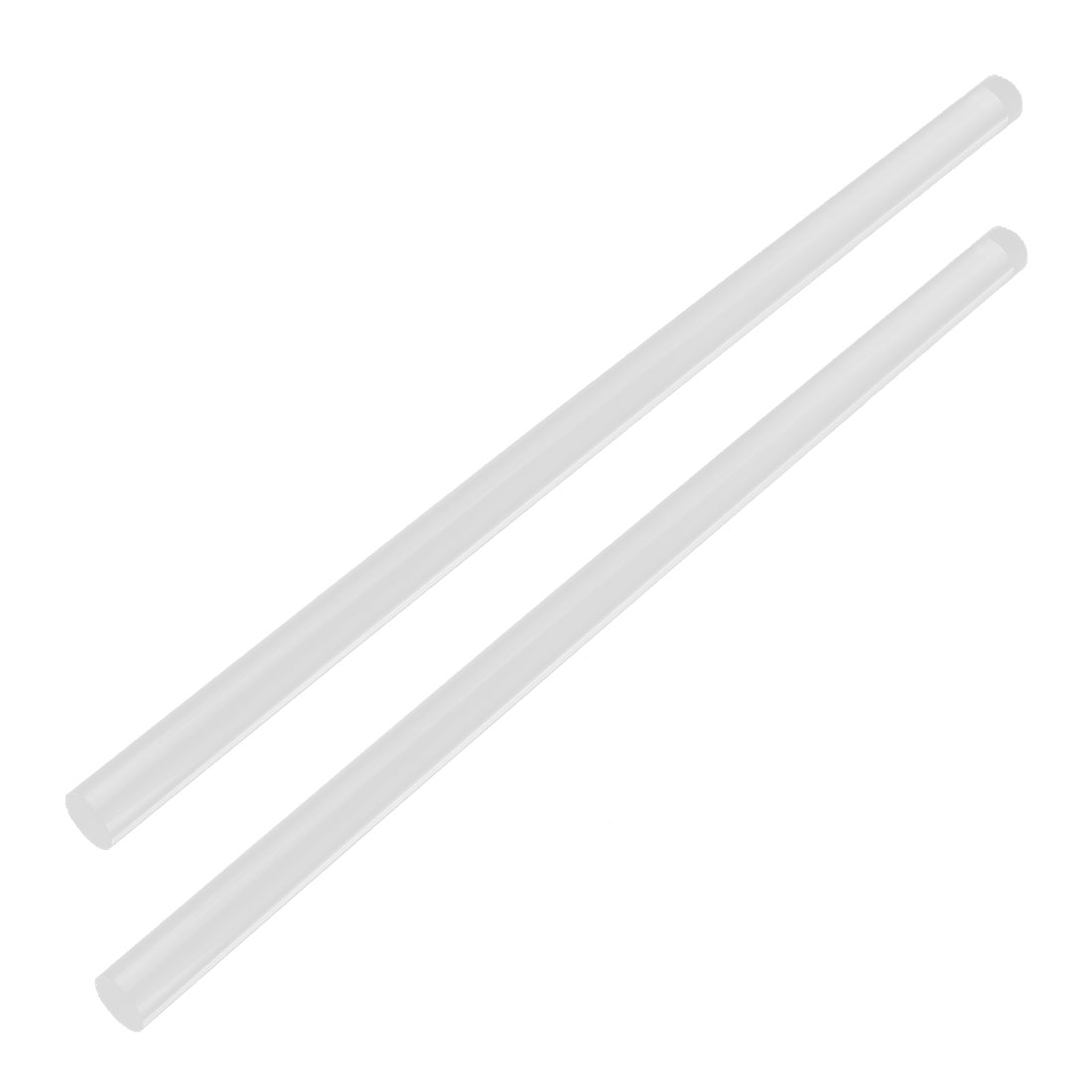 "2Pcs 13mm Clear Round Acrylic Rod PMMA Circular Bar 12"" Length"