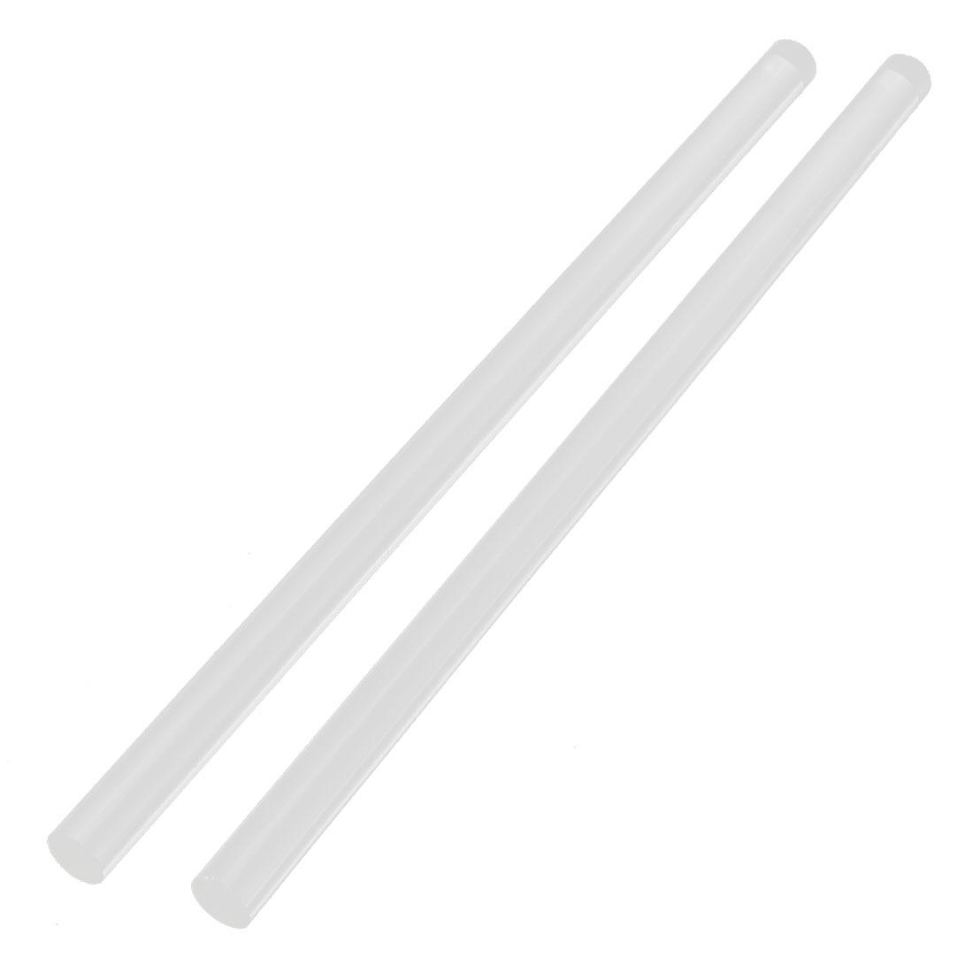 "2Pcs 14mm Dia Clear Round Acrylic Rod PMMA Circular Bar 12"" Length"