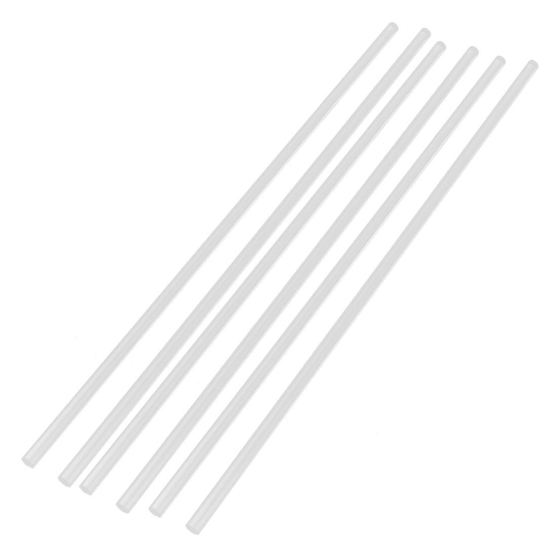 "6Pcs 6mm Dia Clear Round PMMA Extruded Acrylic Rod Bar 12"" Length"