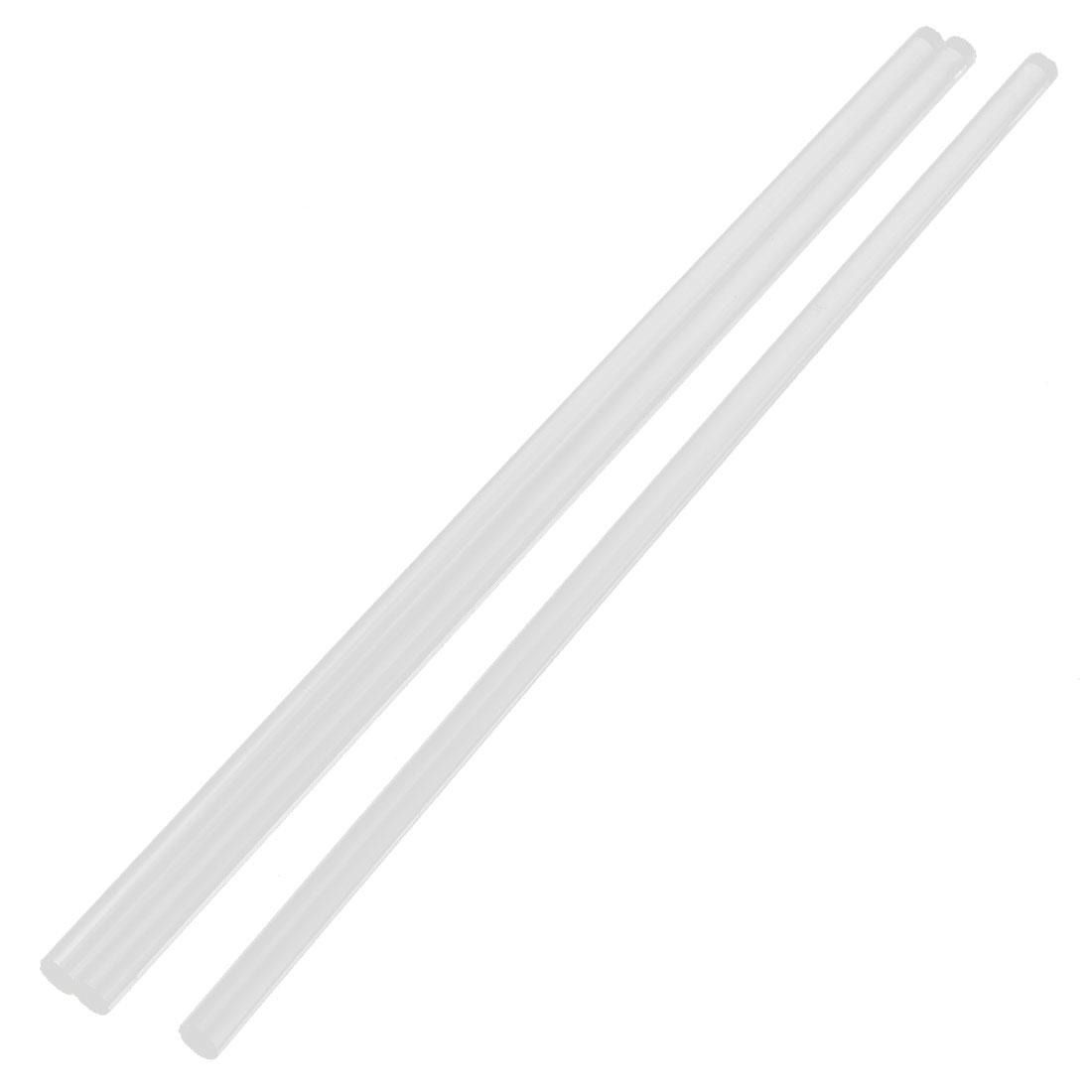 "3Pcs 8mm Dia Clear Round Acrylic Bar PMMA Circular Rod 12"" Length"