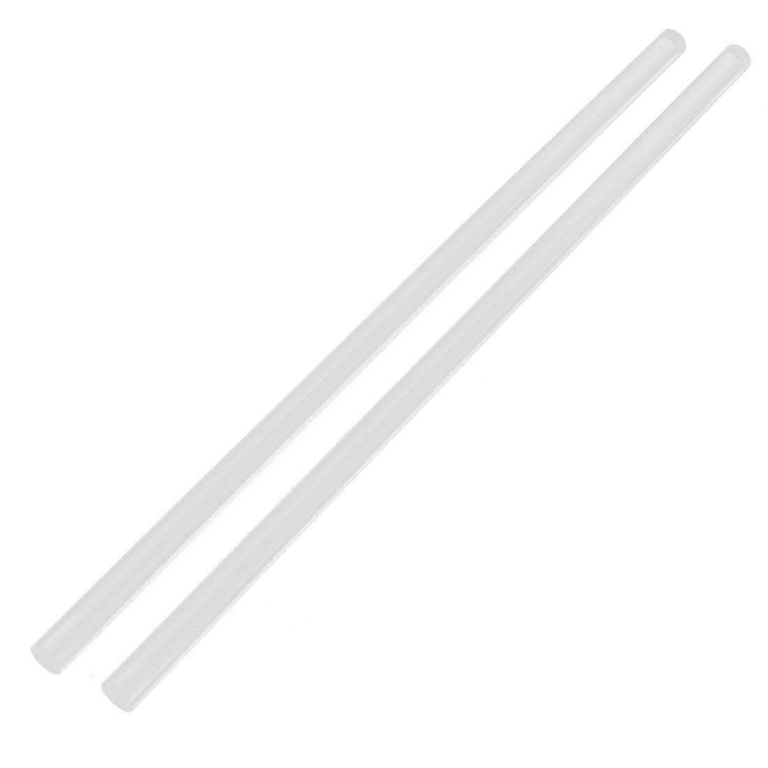 "2Pcs 11mm Dia Clear Round Acrylic Bar PMMA Extruded Rod 12"" Length"