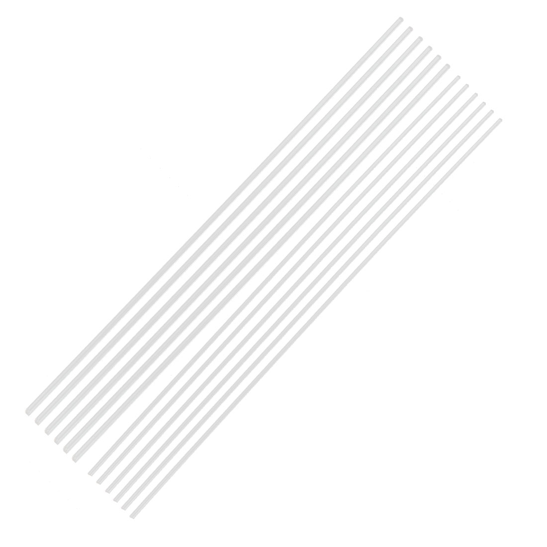 "12Pcs 2mm 3mm Clear Round Acrylic Rod PMMA Exturded Bar 12"" Length"