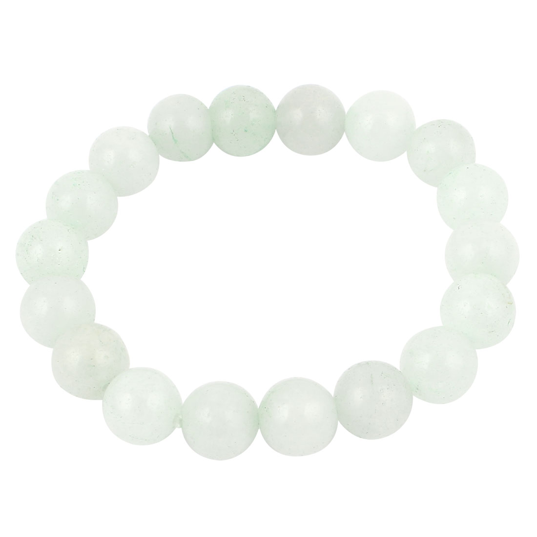 Elasticated 10mm Beaded Stretch Bracelet Jewellery Wrist Ornament White