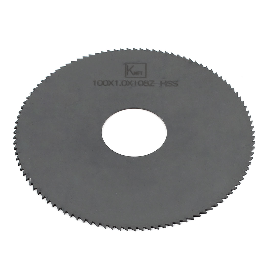 100mmx27mmx1mm 108 Teeth Gray HSS High Speed Steel Slitting Saw Cutter Cutting Tool