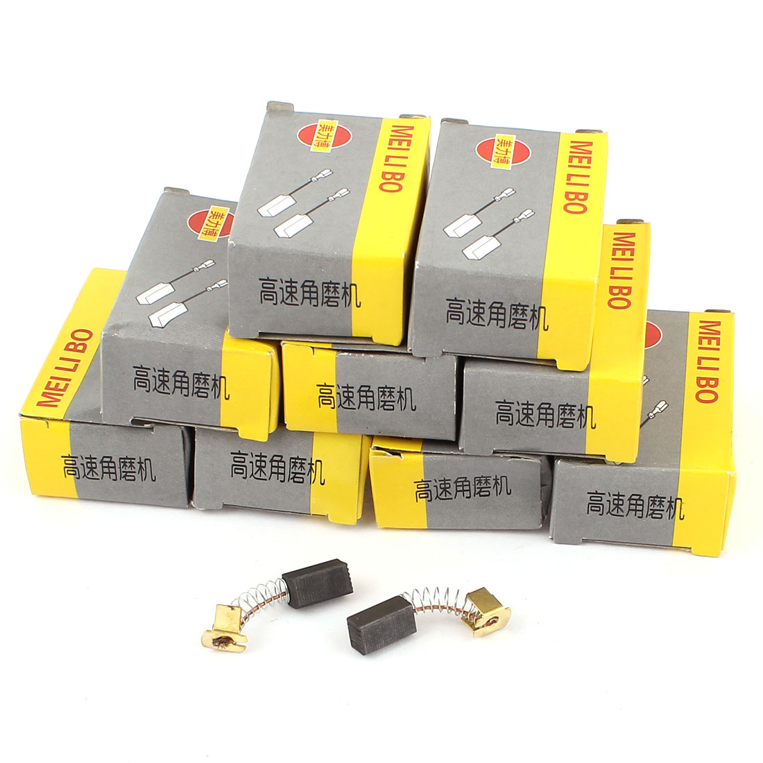 10Pairs Electric Power Tool Spring Motor Carbon Brush 12x6x6mm for Angle Grinder