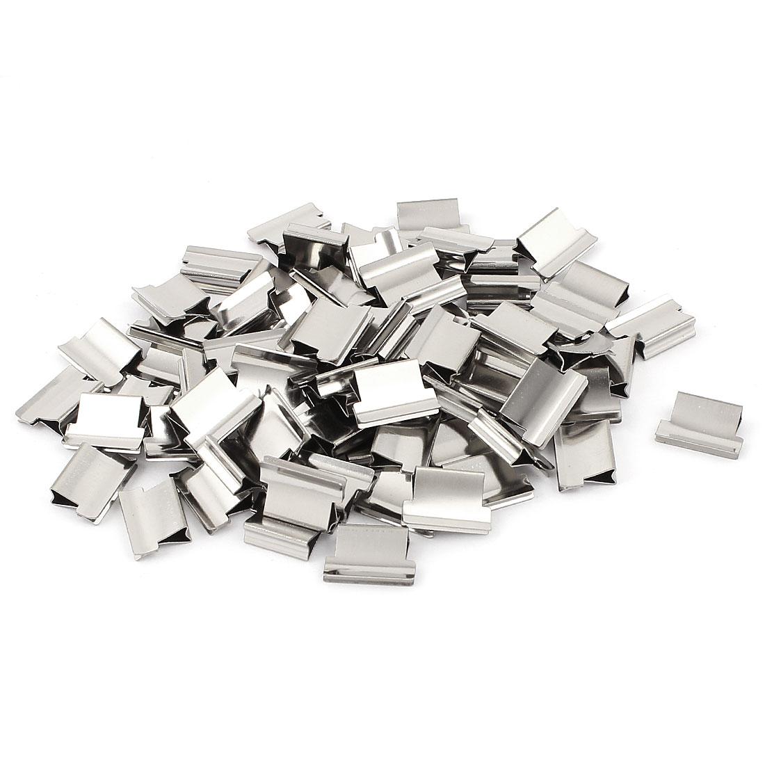 Office Metal Paper Fastener Binding Clam Staple Stapler Clip Dispenser 80 Pcs