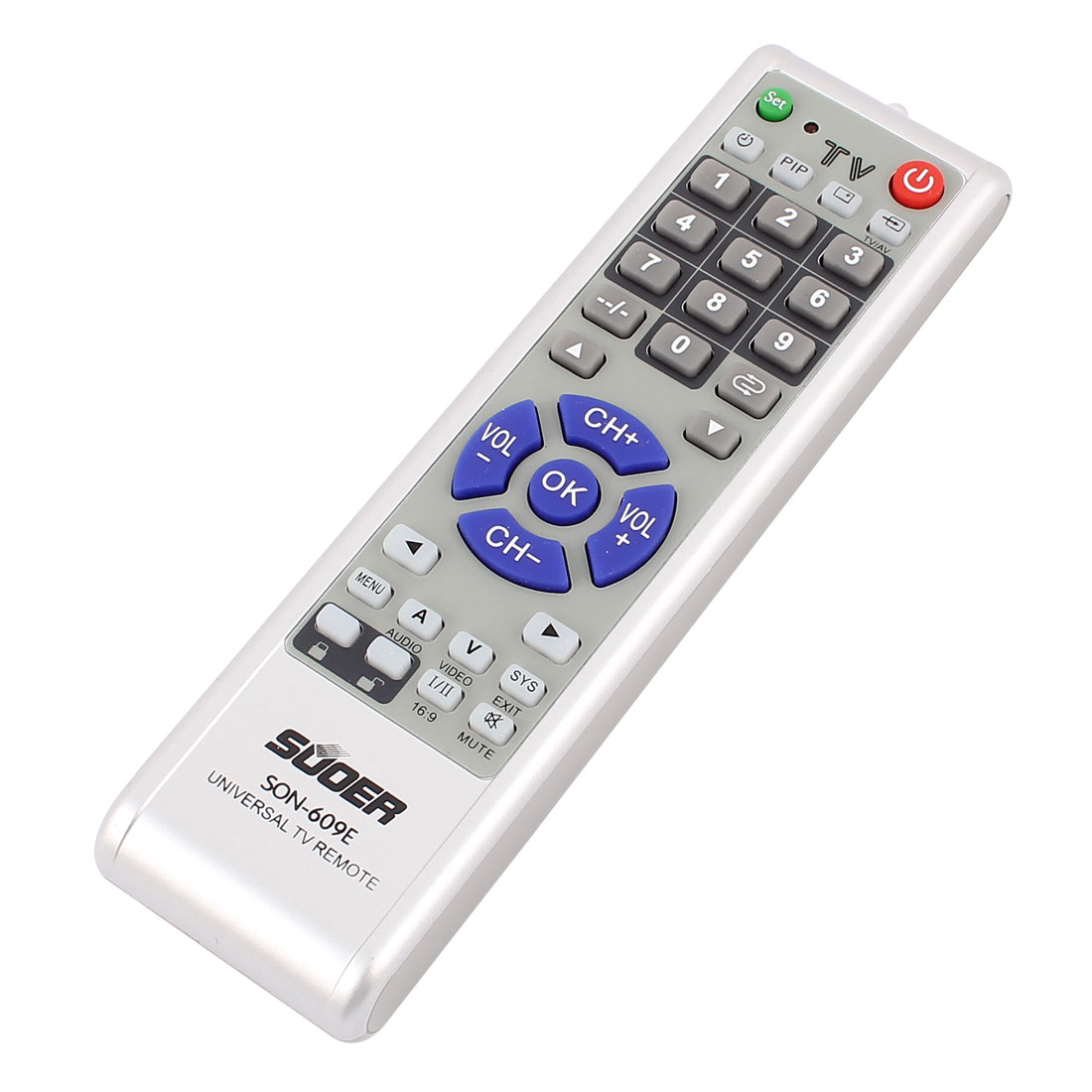 SON-609E Battery Powered Plastic Housing Universal Television TV Remote Control Controller