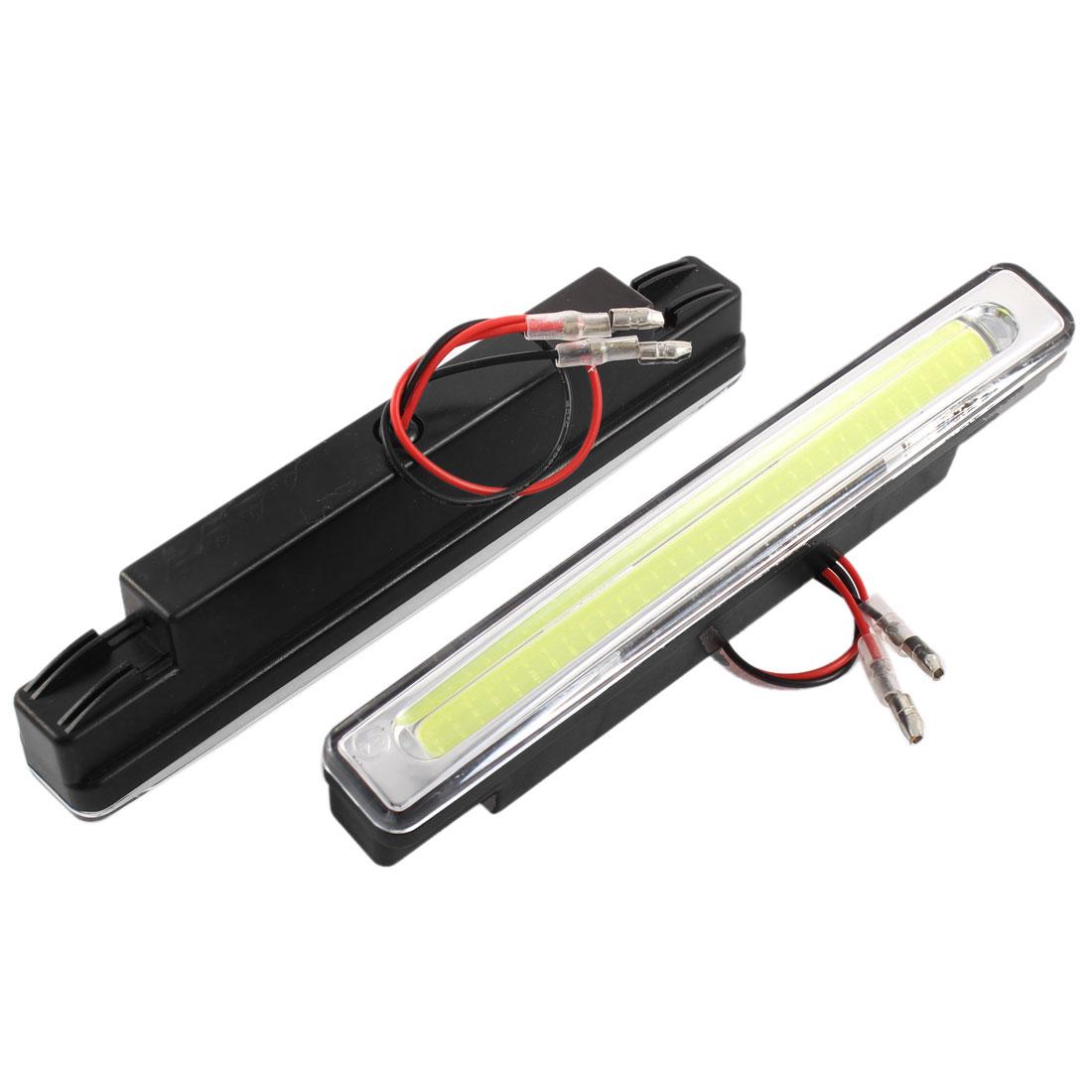 2 Pcs Car White COB LED Driving Daytime Running Daylight Fog Light