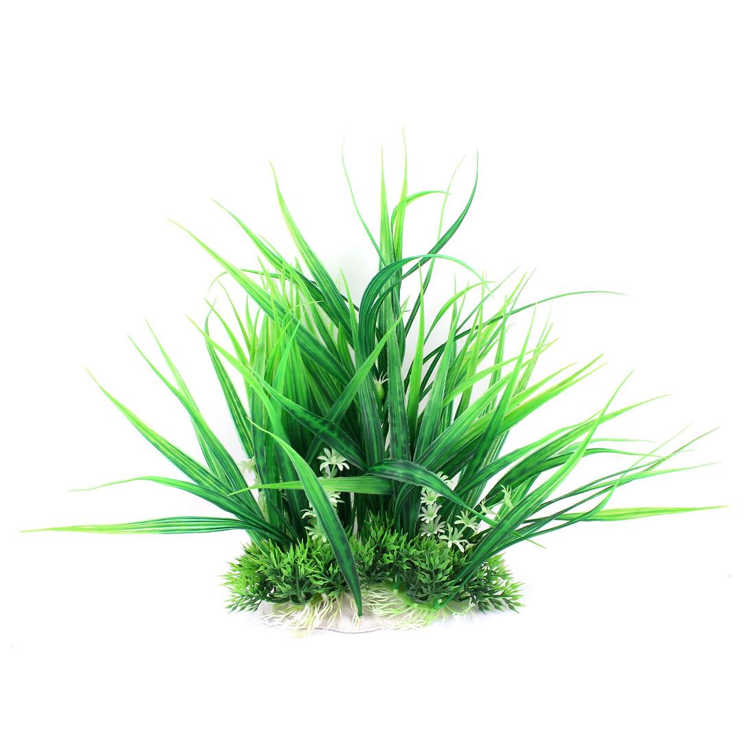 Plastic Artificial Aquarium Fish Tank Green Water Grass Plant Decor 11.8Inch Height