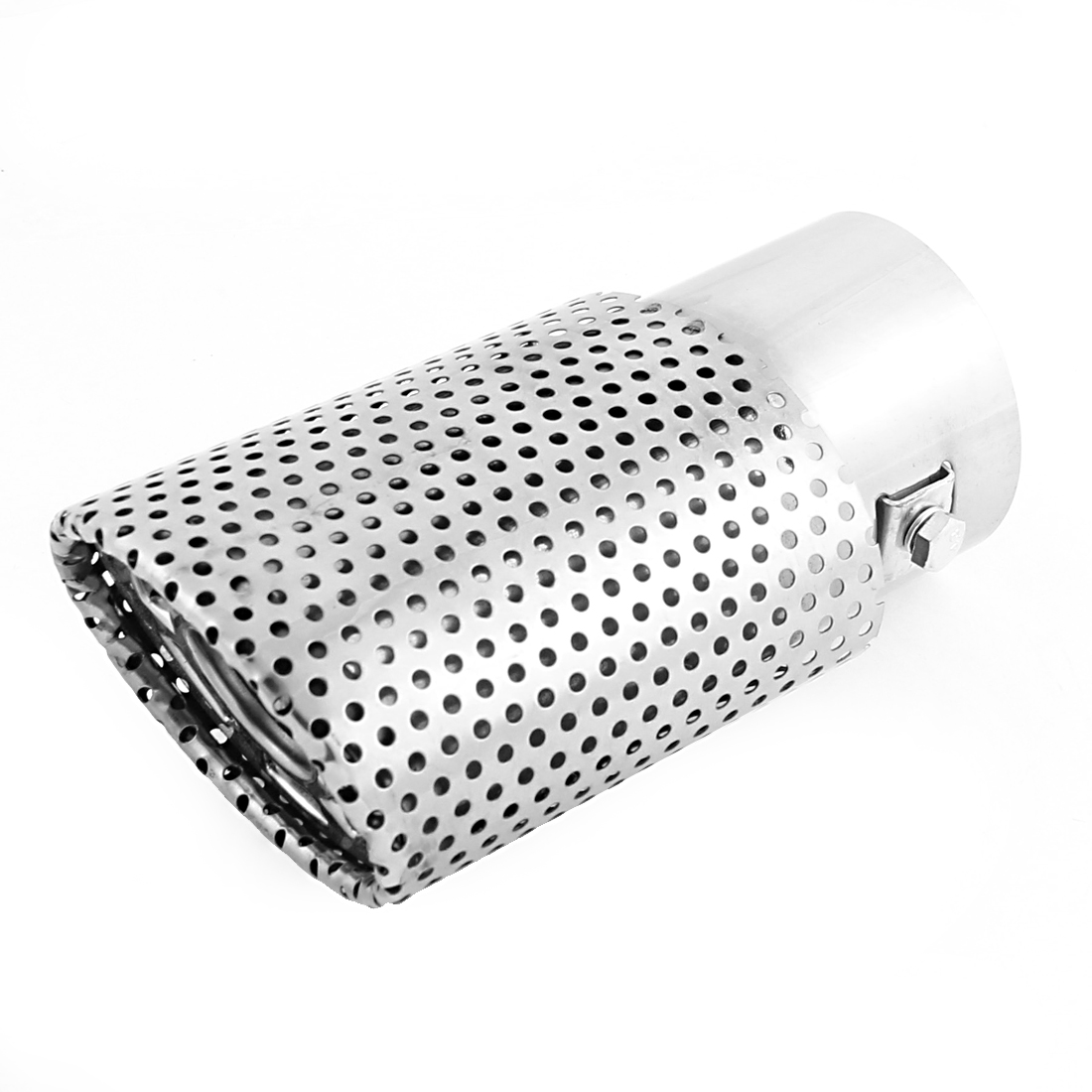 Oval Shape 60mm Inlet Diameter Car Exhaust Muffler Tail Pipe