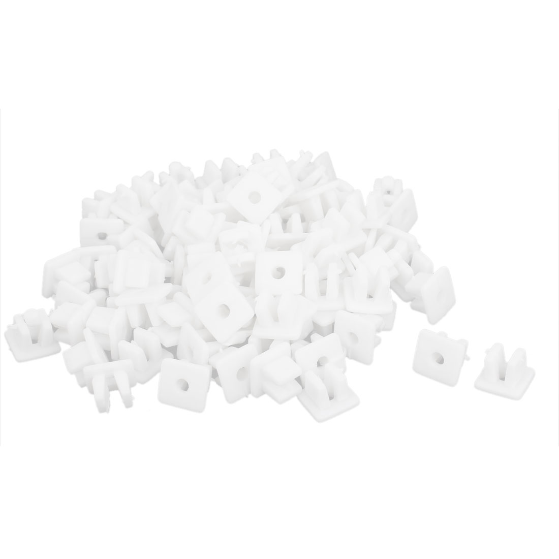 100 Pcs White Plastic Rivet Trim Fastener Moulding Clips 4mm x 7mm x 9mm